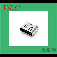TYPE C 6P母座-四脚插件-板上型 大电流 单充电简易USB母头