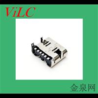 四脚插件-板上TYPE C母座-6P后贴单充电USB插口 威联创