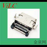 沉板双壳TYPE C母座双排针SMT贴板-USB3.1母头