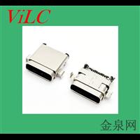 双包壳-破板式TYPE C 24P母座-双排贴针USB3.1母座子