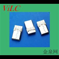 8P双面焊线-单纯充电TYPE C公头-线端USB插头 不带数据