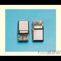 TYPEC公头带PCB板端焊线A公拉伸外壳