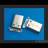 超薄充电贴片式TYPEC公头沉板双贴USB公头两脚全贴