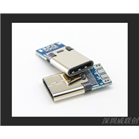 USBtypec公头24PIN数据线插头快充TYPEC插头大电流座子
