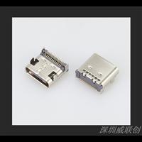 板上型四脚DIP插件式TYPEC母座双排24P针贴板SMT镀锌
