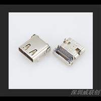 TYPEC母座前贴后四脚插板USB连接器