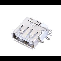 A母USB侧插短体反向母座USB侧立式DIP插板母座