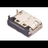 C型MINI迷你HDMI母座SMT四脚插板TYPEC型高清连接器