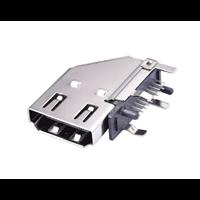 HDMI侧立式A型母座19Pin侧插DIP四脚插板高清接口连接器