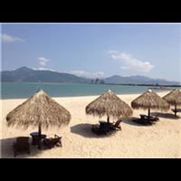海口沙滩茅草伞定做