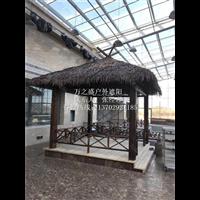 茅草亭-茅草伞厂家定做价格-全实木结构