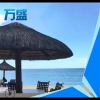 景区酒店景观沙滩太阳伞 天然海滩茅草伞