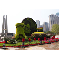 仿真绿雕主题造型