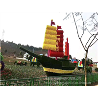 一帆风顺船造型雕塑