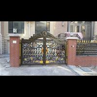 铝合金别墅庭院大门河南濮阳别墅围墙铸铝大门图片铝艺大门厂家