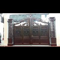 庭院别墅大门河南洛阳高端别墅铸铝大门铸铝别墅大门