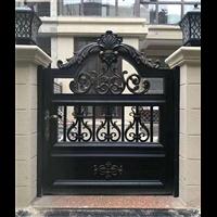 别墅庭院围墙大门河南平顶山别墅铸铝大门别墅铸铝大门