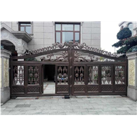 别墅庭院大门生产厂家河北邯郸别墅铸铝大门庭院铸铝大门