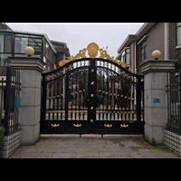 别墅庭院围墙大门天津高端别墅铸铝大门铸铝别墅大门