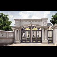 現代別墅大門設計新鄉新鄉別墅庭院大門