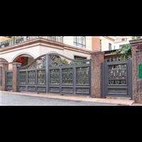 花园草坪护栏北京平谷区铝艺庭院大门供应定制