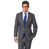 定制男西装三件套西服男士套装 结婚新郎伴郎礼服工作服灰蓝