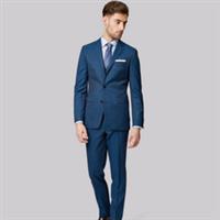 男式休闲西装 韩版小西服 男修身套装蓝色 厂家批量定制