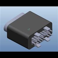 TYPEC14P16P防水母座立插四脚插板