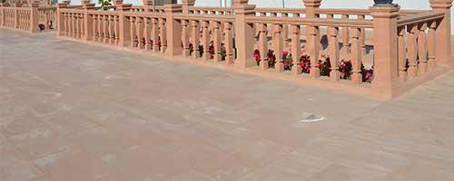 红砂岩栏杆