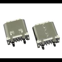 TYPE C母座14PIN立式SMT 板上8.20胶芯外露1.45/1.8