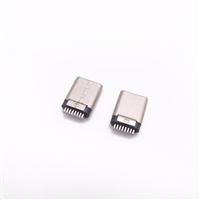type-c 16P  公头夹板0.8/1.0 铆压有缝公头不带板