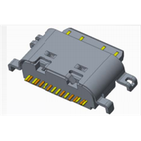 TYPE-C 母座 单排16P 沉板1.0 胶芯裸露
