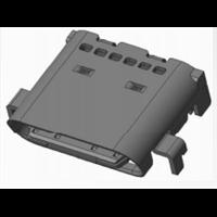 type-c母座  外壳外壳DIP 双排沉板0.8铁壳斜口