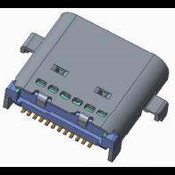 双排24p type-c母座 ,,外壳 DIP 长7.9 双排沉板0.8