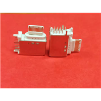 侧插16P TYPE-C 母座 三脚插 带定位柱 胶芯裸露 白胶