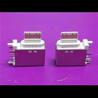 14P侧插 TYPE-C 垫高母座 胶芯裸露 三脚直插 带柱