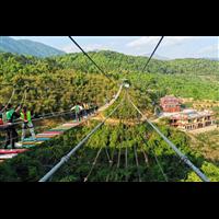河南挑战桥设计鼎创游乐为客户提供一站式服务