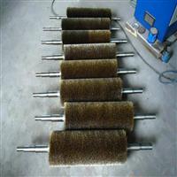 钢带压片缠绕式钢丝辊 山棕毛刷 钢丝刷轮