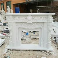 大理石壁炉架 汉白玉欧式壁炉装饰柜 石雕壁炉