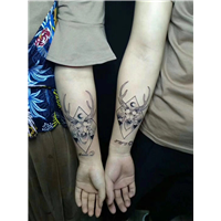 从化文艺刺青纹身作品 3