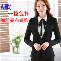 女士韩版西装修身显瘦气质小西装短裙套装歌厅职业装外套品牌工服