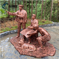 江门公园革命人群雕像摆件恒创玻璃钢雕塑厂