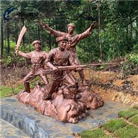 清远文化广场玻璃钢人物群雕雕塑
