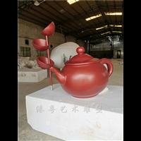 户外大型玻璃钢天壶悬空流水摆件茶壶天壶雕塑定做