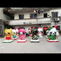 商业广场美陈迎春吉祥卡通雕塑喜庆财神形象公仔制作