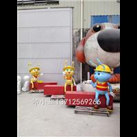 消防教育宣传卡通蚂蚁造型雕塑玻璃纤维消防员卡通雕像