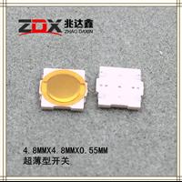 深圳市厂家直销-4.8MMX4.8MMX0.55MM超薄-轻触开关