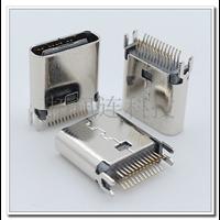 深圳厂家USB C TYPE 24p母端 夹板式1.0 超短L8.8MM