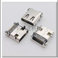 过协会认证USB 3.1 C TYPE板上24P 双排DIP+SMT 尾部半包