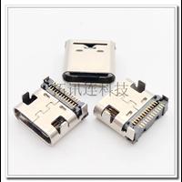 USB 3.1连接器C TYPE 24P板上双排贴片 四脚插件镀金3u